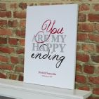 Personalised 'You Are My Happy Ending' Art